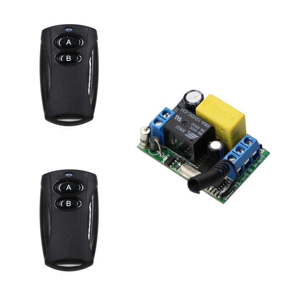Лучшая цена предложение для AC 220V 10A 1 канал беспроводной электрический гаражный дверной окно пульт дистанционного управления приемник и чер...