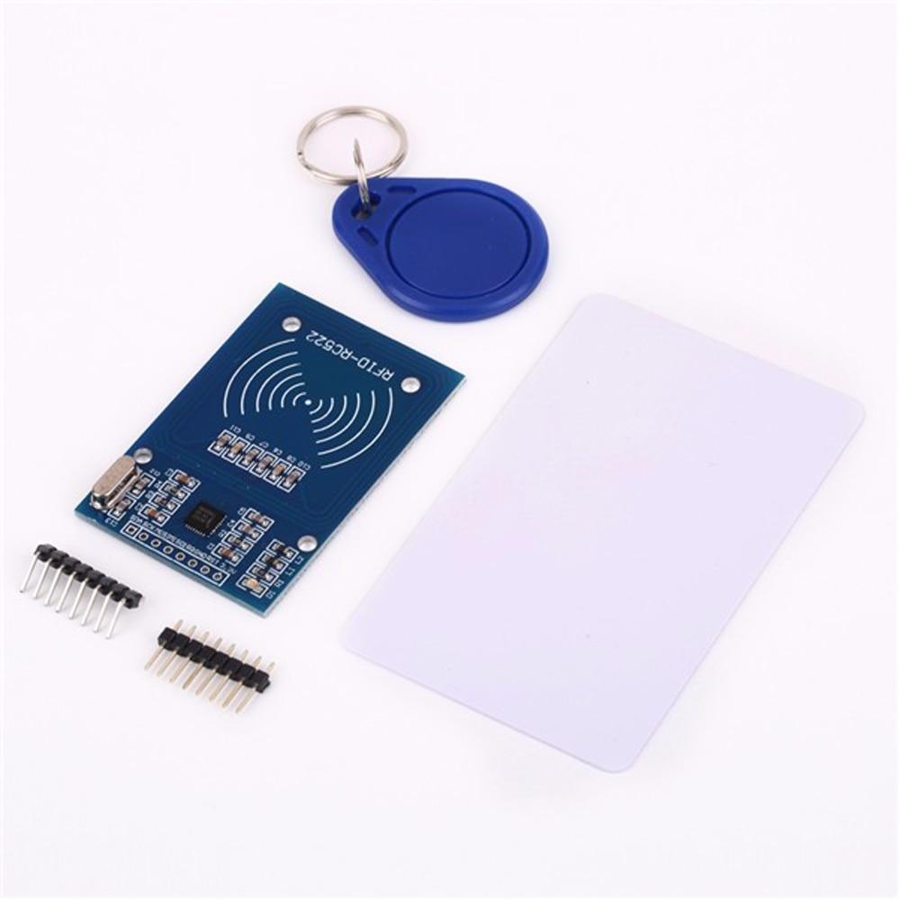 10 unids/lote RC522 RFID NFC lector RF tarjeta IC Módulo de Sensor inductivo para Arduino módulo + S50 tarjeta + keyfobs