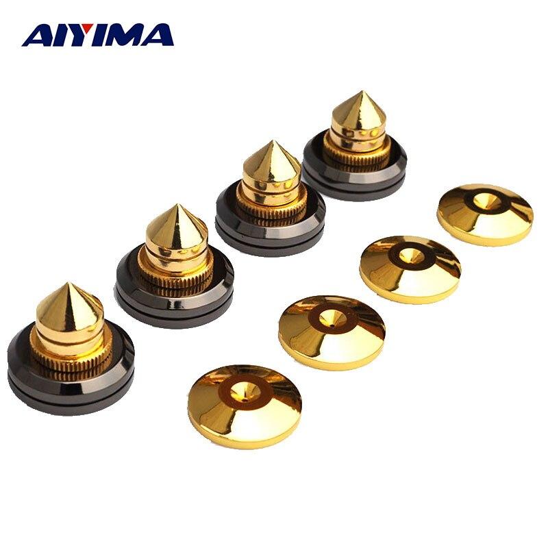 AIYIMA 4 paires Mini Portable haut-parleur pointes haut-parleurs pièces de réparation bricolage haut-parleur support choc broches clous et tampons accessoires