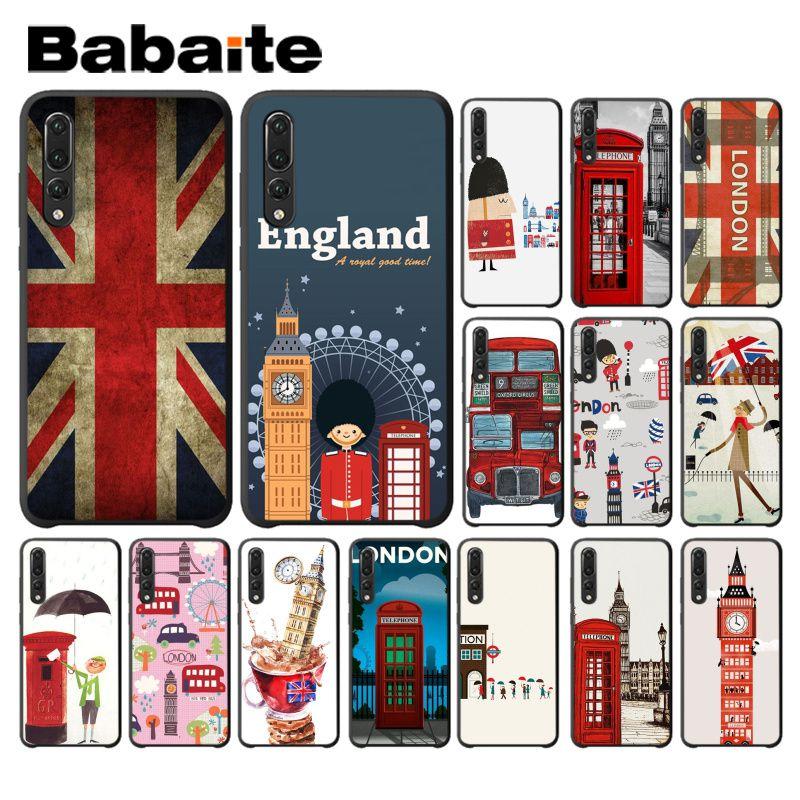 Babaite eu amo reino unido londres bandeira tpu caso de telefone macio para huawei p10 plus 20 pro p20 lite mate9 10 lite honra 10 view10