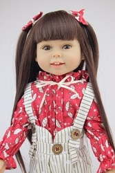 Linda Jornada boneca reborn boneca Popular princesa menina Menina Dollie & me moda renascer boneca Brinquedos para meninas Presente De Aniversário bebê 45 cm