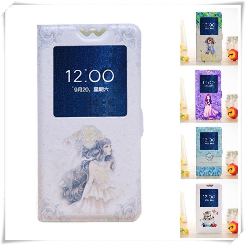Idol 3 5,5 , estuche de lujo pintado, cubierta de ventana abatible de dibujos animados para Alcatel One Touch Idol 3 5,5 pulgadas 6045 6045Y 6045K, fundas para teléfono