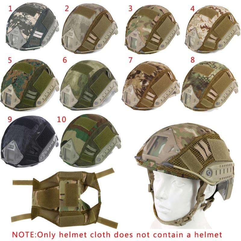 Quente tático militar do exército capacete cobre camuflagem capa airsoft paintball tiro capacete acessório para rápido mh/pj capacete novo