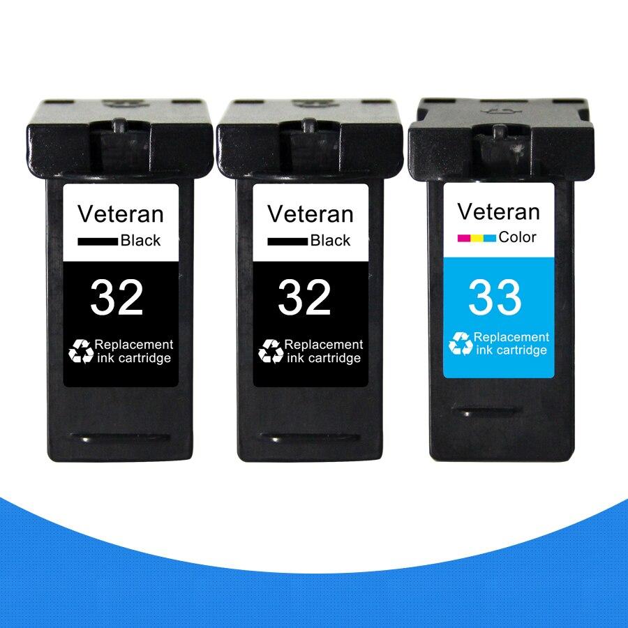 Veterano 3pk para lexmark 32 33 cartucho de tinta para lexmark x7350 x5450 x5210 x5470 p4350 x7170 z810 z812 z815 z816 z818 p4330 p6210