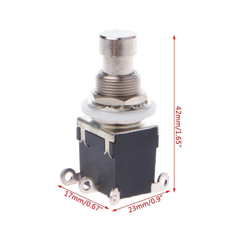 Ootdty plástico + metal ac 250 v/2a 125 v/4a 6 pinos dpdt momentânea stomp interruptor de pé para guitarra