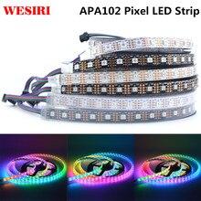 1 m/5 m APA102 SK9822 inteligente tira de píxeles LED 30/60/72/96/144 LEDs/píxeles/m IP30/IP65/IP67 DC5V APA102C 5050 RGB LED de luz de tira