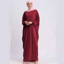 Musulman adulte chauve-souris manches maxi abaya mode arabe doux soyeux tissu musulman abaya femme Robe musicale prière Ramadan wq970 livraison directe