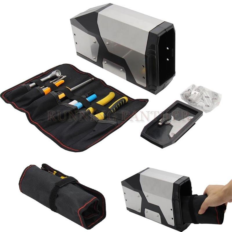 4.2 Liters Tool Box Decorative Box Toolbox Waterproof side bracket For BMW R1200GS /R1200GS Adv /R1250GS / F750GS / F850GS