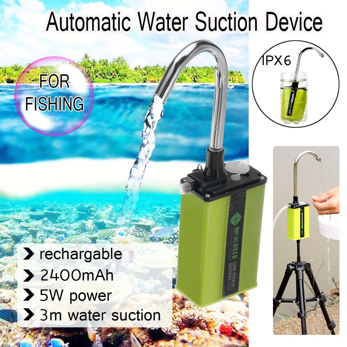 Pesca Anilhas de Carga Dispositivo de Sucção de Mão Da Bomba de Admissão Automática Máquina de Absorção De Água Ao Ar Livre Equipamento De Pesca Ferramenta