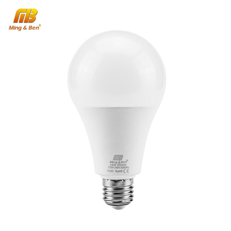 Bombilla LED sin parpadeo E27 E14 220V Bombilla inteligente IC Real Power3W 5W 7W 9W 12W 15W 18W Bombilla LED de alto brillo