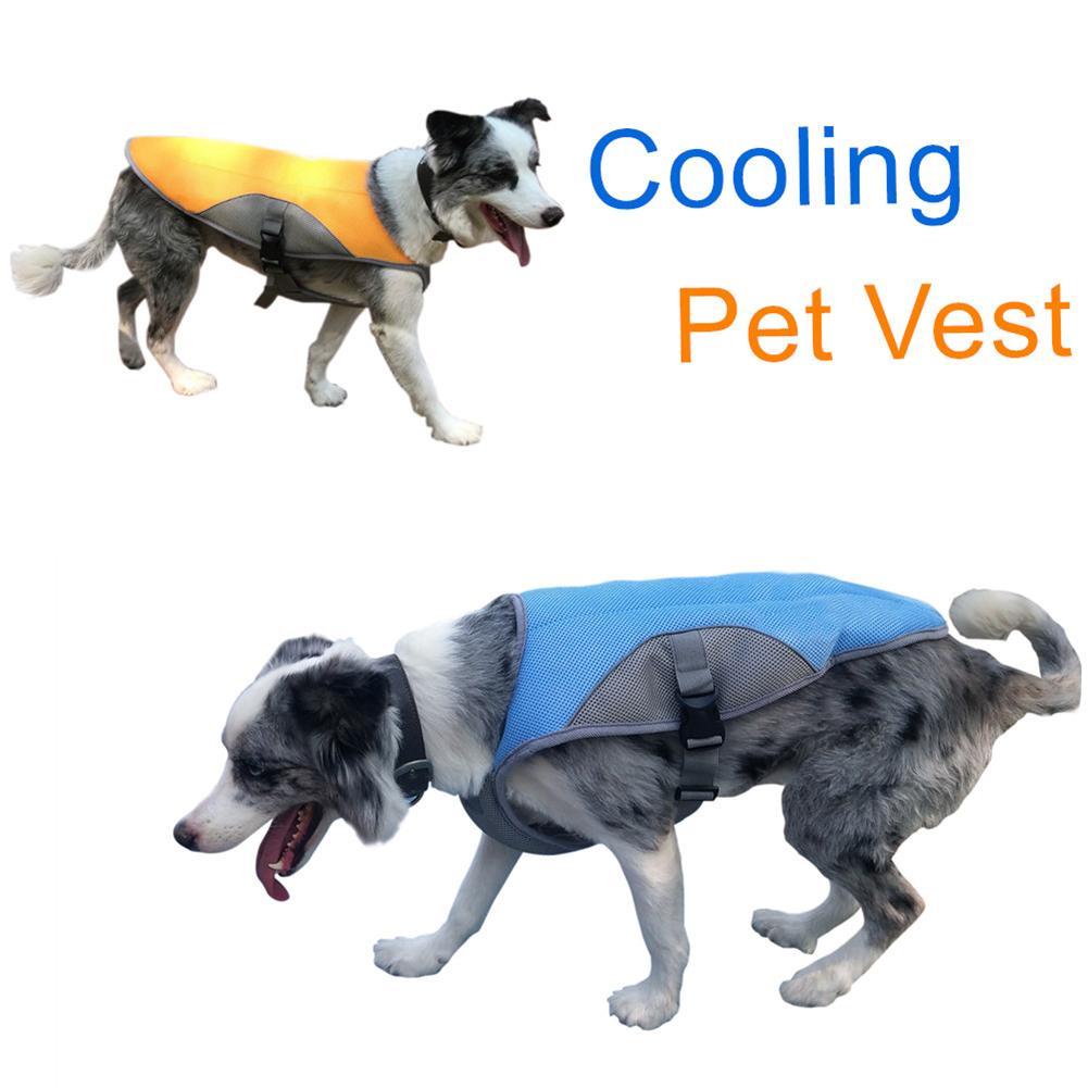 Sommer Pet Kühlung Weste Hitzschlag Prävention Haustier Hund Harness Kühler Jacke Für Outdoor Spaziergänge Laufen Klettern