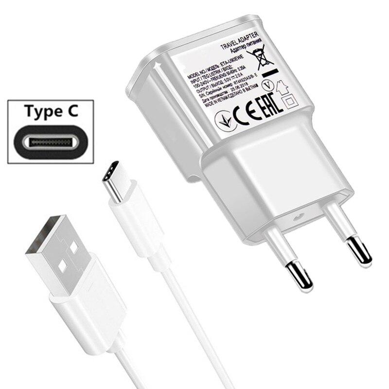 Nos enchufe de la UE cargador de pared tipo C USB Cable de carga para Samsung galaxy A70 A7 2017 A80 S8 S10 más A8 A9 A30 A20E M20 M30 A40 A50