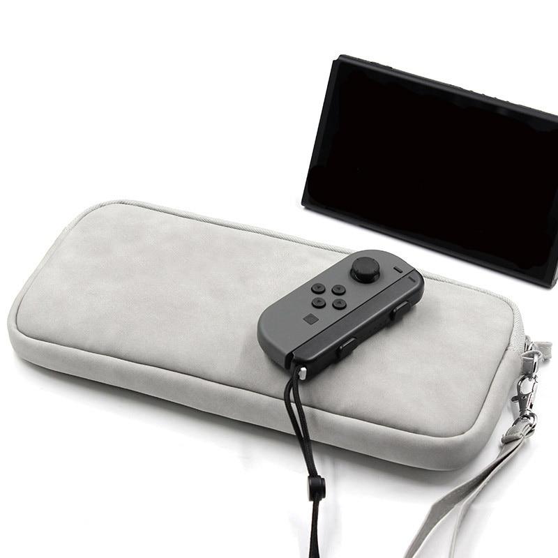 Saco de armazenamento digital nintend switch ns console saco de armazenamento de transporte protetor de tela de vidro temperado linho caso organizador do jogo