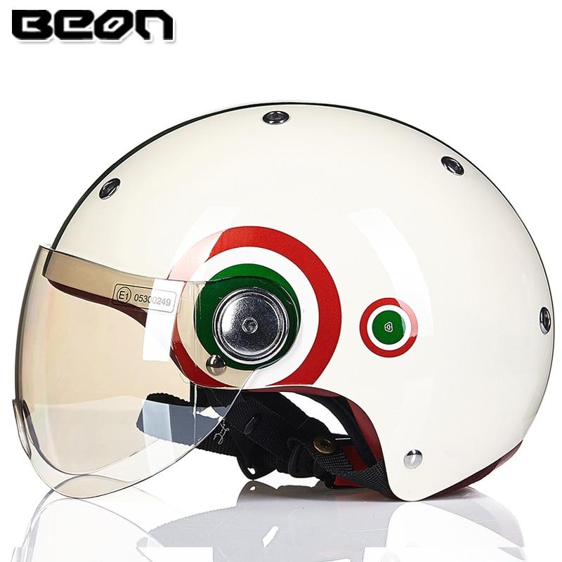 BEON-خوذة نصف وجه للدراجات النارية ، خوذة دراجة كهربائية ، موتوكروس ، سلامة عتيقة ، 103