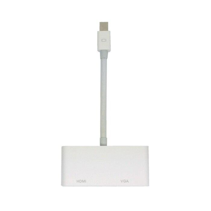 Cy mini displayport thunderbolt para vga & hdmi adaptador cabo 2 in1 para apple macbook & ar & pro & imac branco