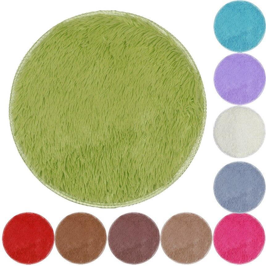 Утолщенный круглый коврик для пола Ouneed, 40*40 см, ковер для столовой, спальни, гостиной, разноцветный, Happy Sale ap524