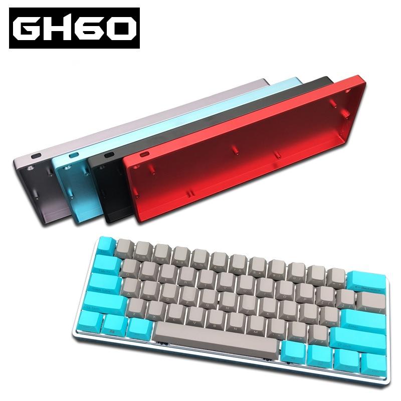 GH60 Teclado mecánico compacto carcasa de aluminio anodizado DIY poker2 caja dorada teclado para juegos teclado FACEU marco de la caja de metal