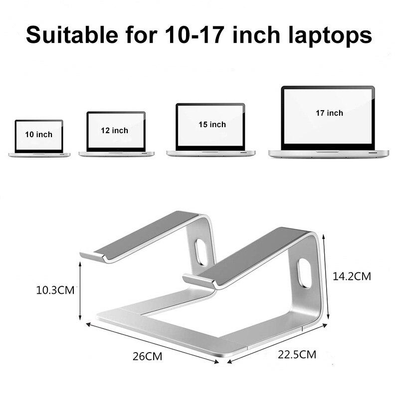 Liga de Alumínio Suporte para Portátil Rack para Desktop Ergonomia Aumentar Notebook Promoções jr