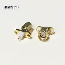 1pc nuevo SMA macho RF coaxial conector de montaje en panel de soldadura post recto aislante largo 4mm chapado en oro al por mayor