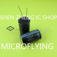 2pcs/lot Aluminum electrolytic capacitor 120 uF 400 V 18*30mm Electrolytic capacitor ic