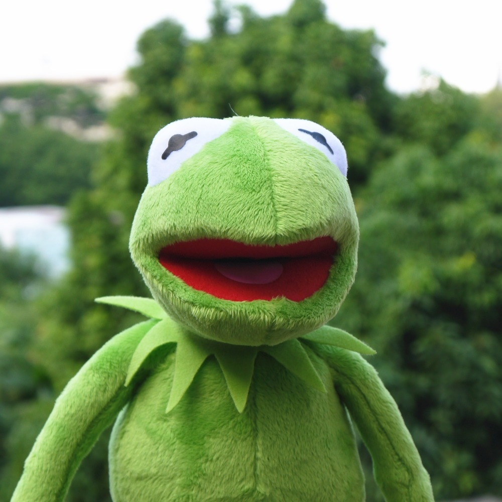 40cm Plush Kermit Frog Sesame Street Frogs doll The Muppet Show Plush Toys Birthday Christmas Plush Stuffed Doll For Kids
