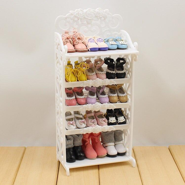 Bastidores de zapatos de muñeca 5 capas disponibles para muñecas Blyth AZONE Licca chole 1/6 accesorios de muñecas muebles de casa de muñecas