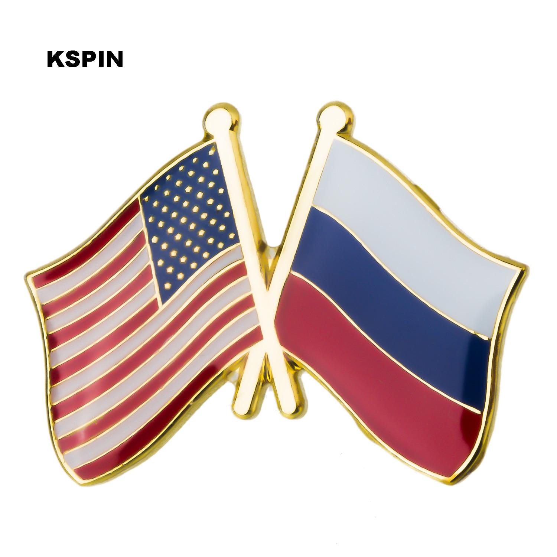 Bandera de la amistad de Estados Unidos, insignias de Metal, broche decorativo, pines para XY0289-4 de tela