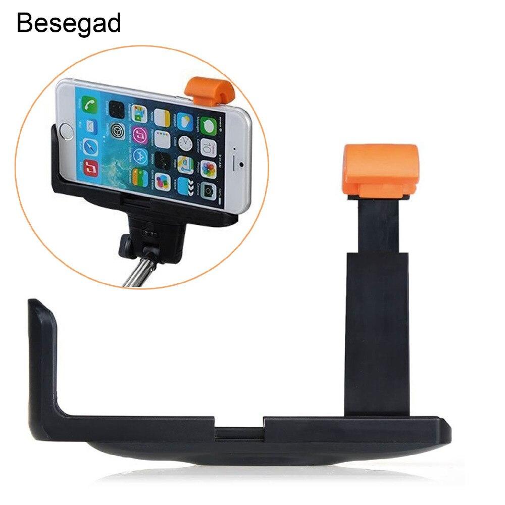 Besegad universal suporte do telefone celular montar braçadeira para selfie monopod vara para iphone 6 plus 5 5S 4 samsung galaxy s6 borda s5 s4