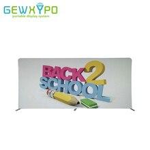 Bannière imprimée par tissu droit de Tension de 16.5ft(W)* 8ft avec le support en aluminium, affichage portatif de Backwall de publicité de Stand de salon commercial