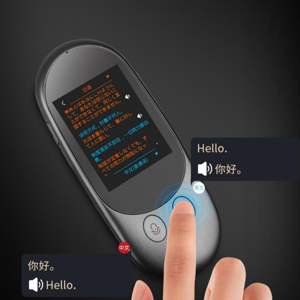 Aibecy traductor de voz inteligente dispositivo 40 idiomas 2,4 pulgadas pantalla táctil recargable F1