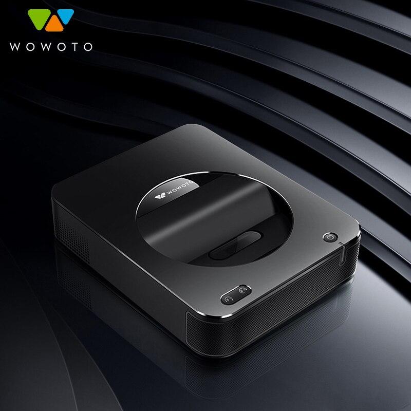 WOWOTO projecteur électrique mise au point 4K résolution grande mémoire RAM 4G système de fenêtre de projecteur réseau sans fil pour Home Cinema S6W