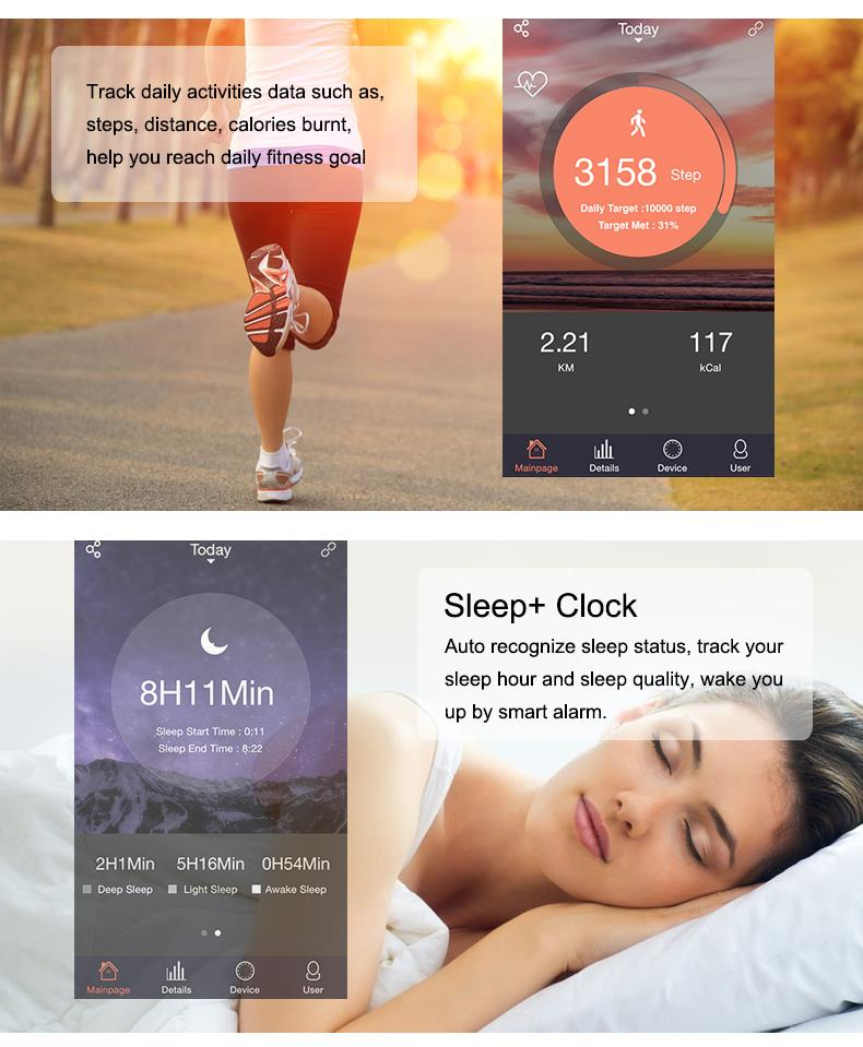 Inteligentny zespół id107 pulsometr siłownia sport bransoletka smartband pulsometer inteligentne nadgarstek dla apple ios android 7