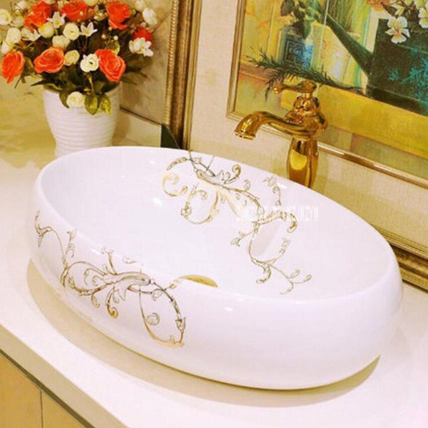 JT-9230 Countertop Sinks Ceramic Art Basin Ceramic High-quality Home Counter Top Wash Basin Household Bathroom Sink Washbasin