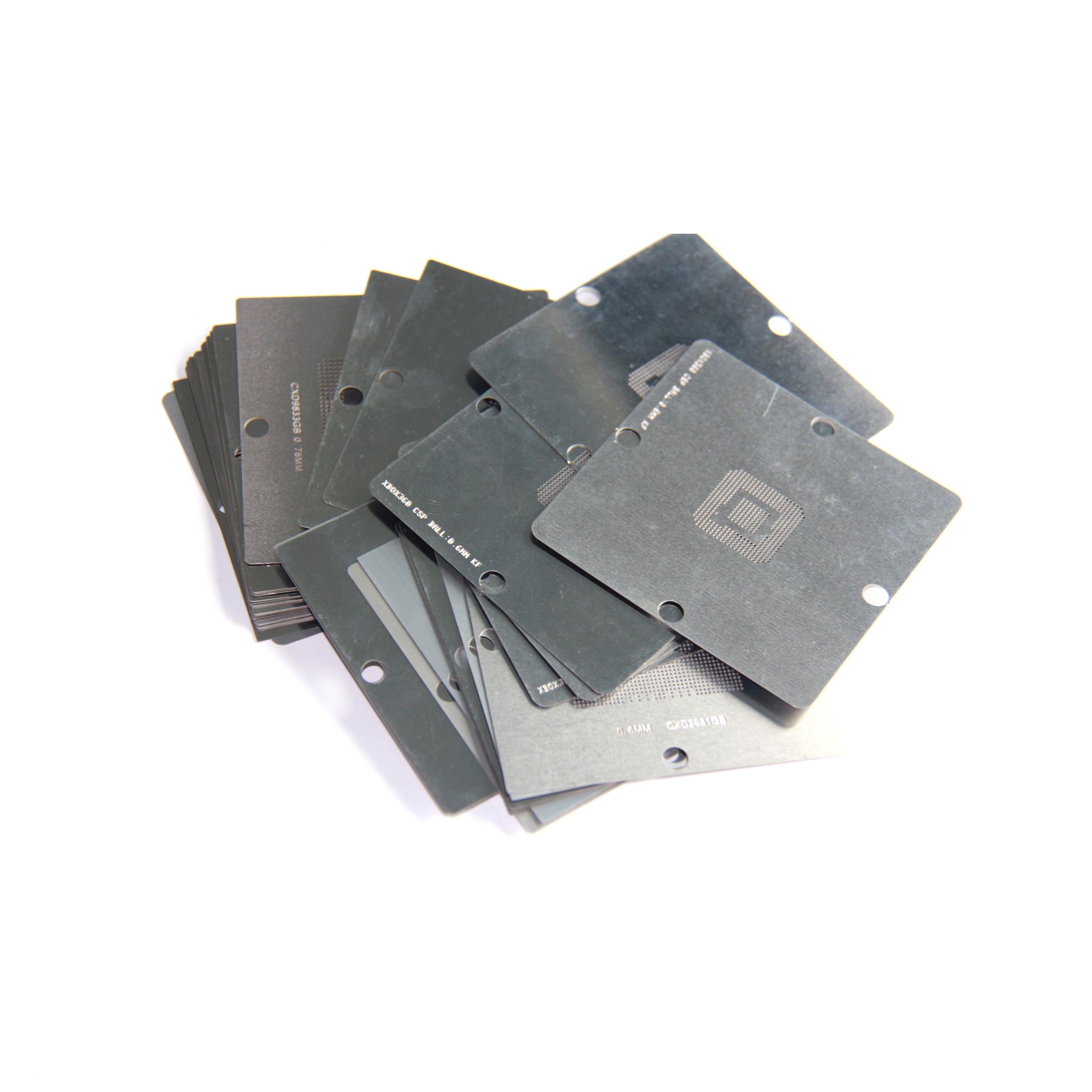 Envío Gratis 28 unids/set plantilla BGA XBOX360 ps4 ps3 se chocando neto planta Red de abalorios 80*80mm 90*90mm acero pequeño de malla