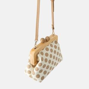 Vintage Striped Wooden Clip Bags shell bag luxury brand shoulder bags women messenger crossbody bag women canvas handbags