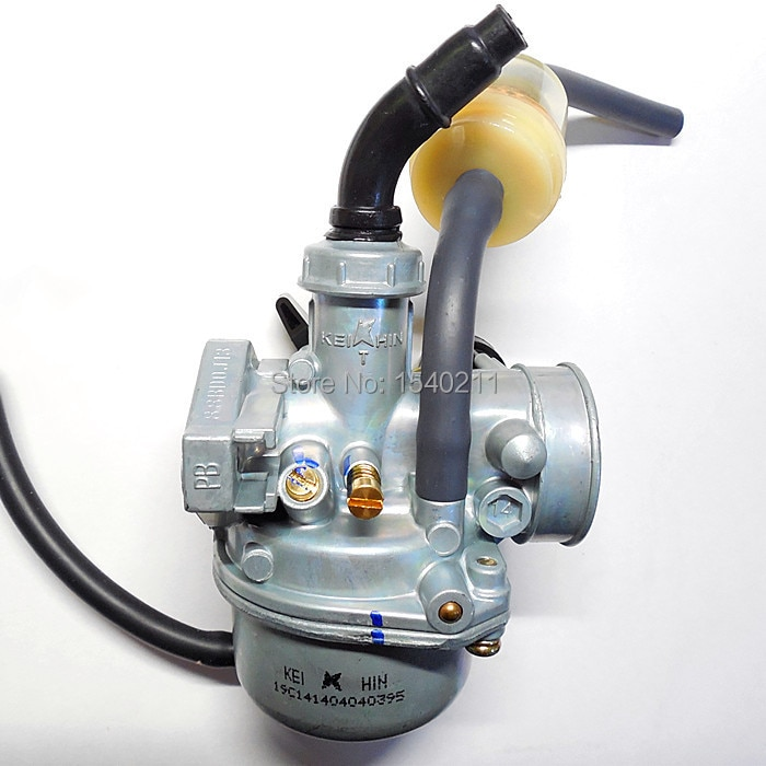 KEIHIN 19mm carburador PZ19 Manual del acelerador carburador de mano 50cc 70cc 90cc 110cc motocicleta de la suciedad de la bicicleta ATV Quad GY6 carburador de la motocicleta