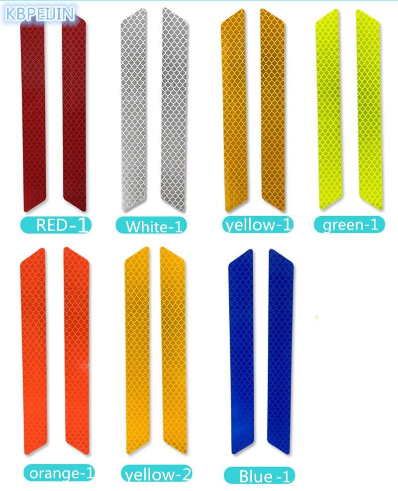 Accesorios parachoques de coche/rueda ceja seguridad reflectante tiras pegatina para lifan x60 620 520 320 x50 Solano Smily 2 uds