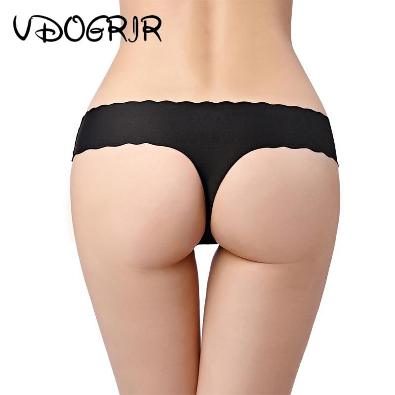 VDOGRIR Sexy mujer G-String mujer Bragas ropa interior Mujer Lencería sin costuras tangas de cintura baja mujer Bragas Tanga