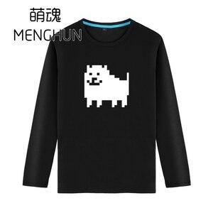 cute Undertale concept t shirts undertale hadodog 8 bit retro style t shirts men game fans long sleeve cotton t shirts ac1093