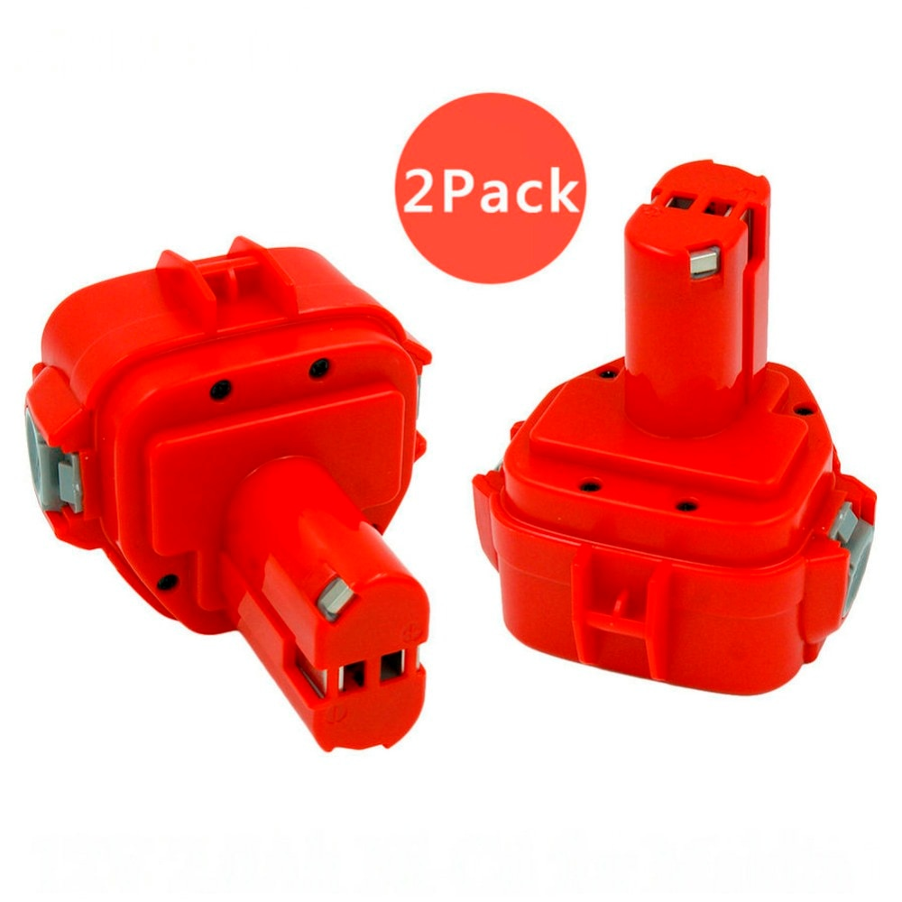 2 шт. 12В 2000 мАч nicd беспроводные дрели замена Аккумуляторная батарея для Makita 6227D 6317D 1220 1222 1233 1234 bateria