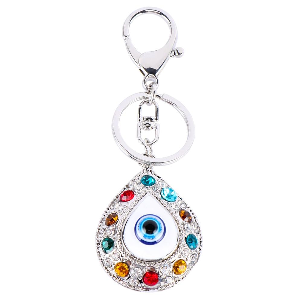 LLavero de ojo malvado clásico llavero Animal llavero para mujeres regalos de la suerte bolso encanto accesorios de coche joyería colgante