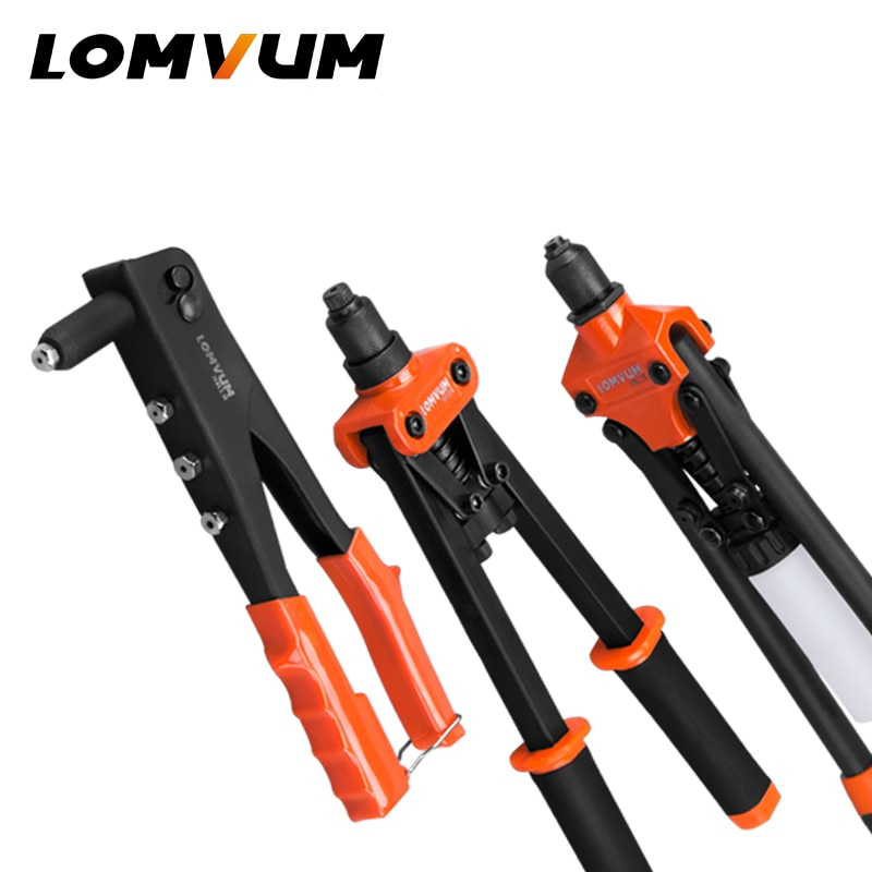 LOMVUM Hand Riveter Gun Replaceable Manual Rivet Guns Industrial Hand Riveters Nuts Insert Home Riveting Auto Tool Renovation