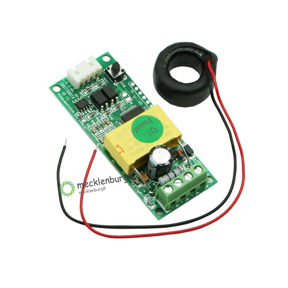 AC multifunción Digital medidor de vatios de potencia Volt Amp TTL actual Módulo de prueba PZEM-004T con bobina 0-100A 80-260V CA para Arduino rata