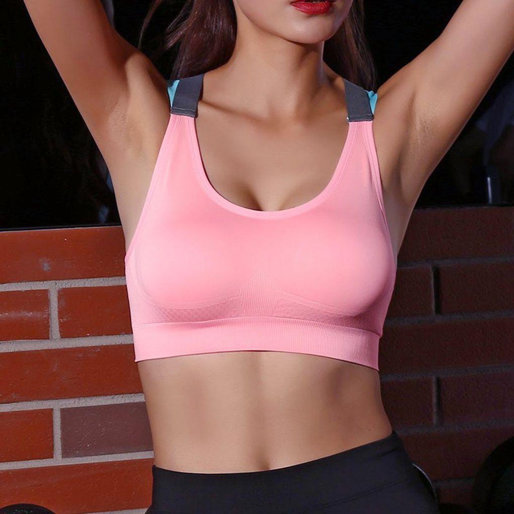 FangNymph, sujetador de tipo Top deportivo a prueba de golpes de secado rápido Espalda cruzada de nailon para correr, Yoga y Fitness