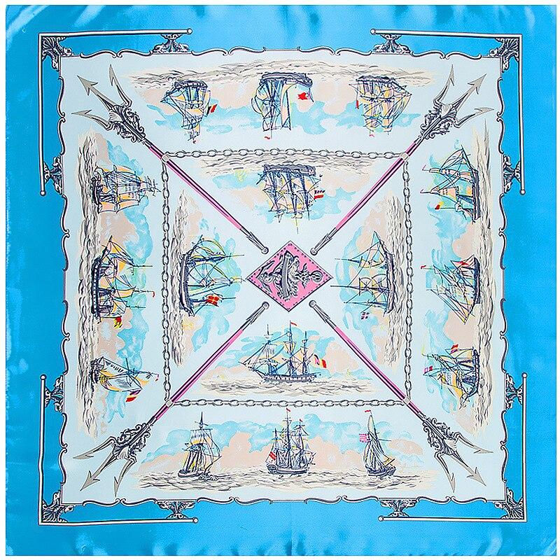 Женский шарф в полоску, роскошный брендовый шарф 90 см * 90 см, Геометрическая оправа, в полоску, из твилового шелка, небольшие Квадратные платк...