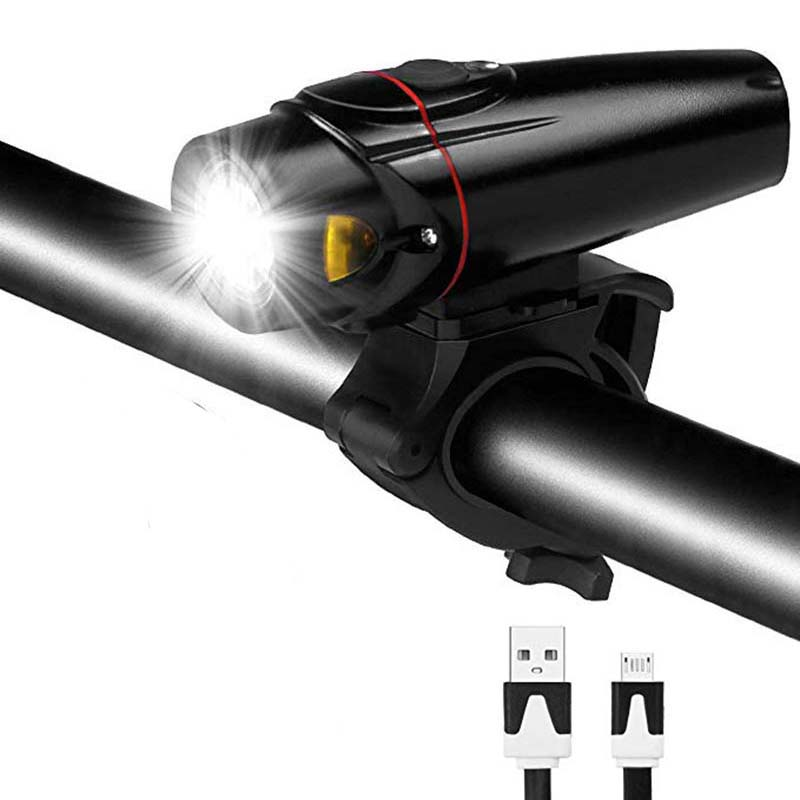 Luz de bicicleta inteligente ultrabrillante frente de bicicleta 2000mAh LED linterna Lámpara USB recargable Luz de ciclismo Calidad de Alemania