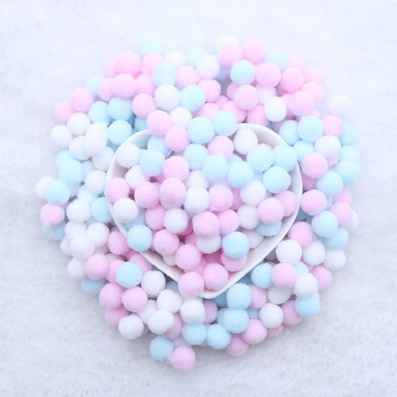 400 Pcs/ Bag Multi Colors 10mm Pompoms Balls for DIY Party Home Garden Wedding Decoration Garment Sewing Kids Toys Accessories