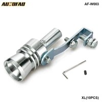 universal turbo sound exhaust muffler pipe whistle fake blow off bov simulator whistler size xl 10pcslot af w003