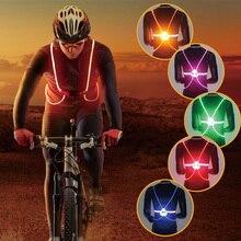 Nocna kamizelka kolarska odblaskowa LED wysoka widoczność wieczorne światło zajęcia na świeżym powietrzu bezpieczeństwo rower Taillight RR7031