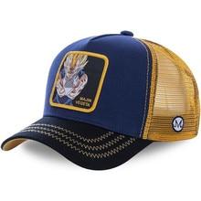 Бейсболка MAJIN VEGETA для мужчин и женщин, хлопковая кепка в стиле хип-хоп, с сетчатым верхом